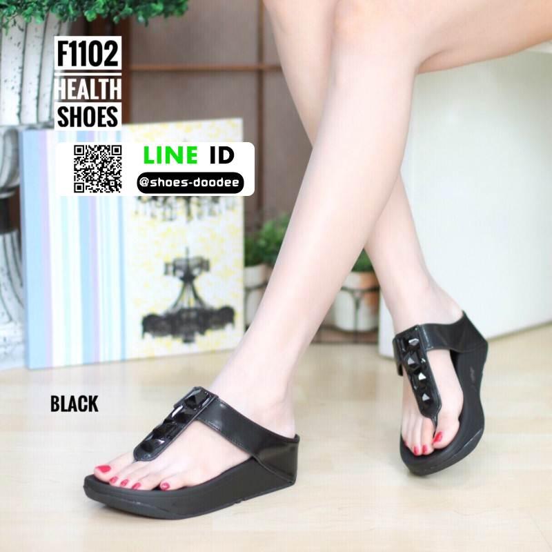 รองเท้าเพื่อสุขภาพ ฟิทฟลอปหนีบ F1102-BLK [สีดำ]