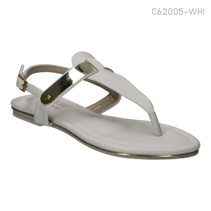 ลดล้างสต๊อก รองเท้าส้นเตี้ย C62005-WHI [สีขาว]