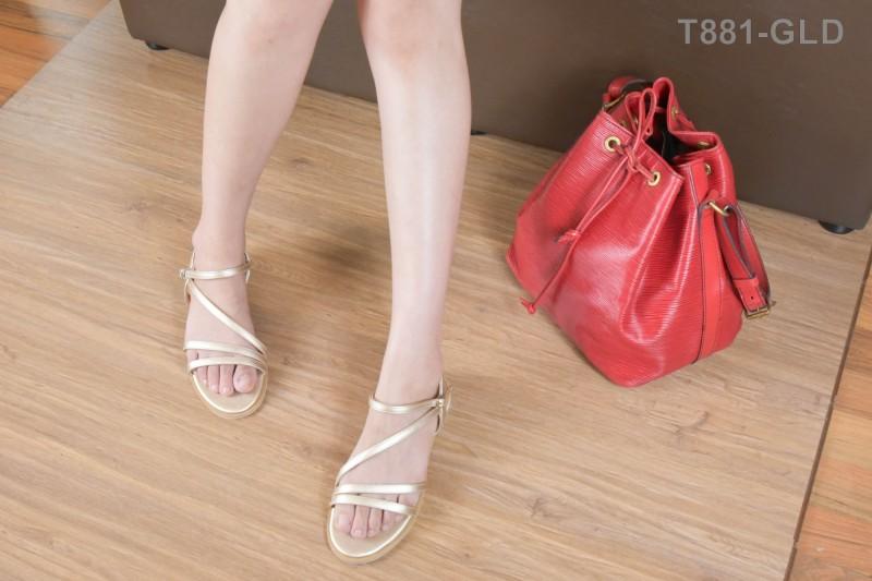 ลดล้างสต๊อก รองเท้าส้นแบน T881-GLD [สีทอง]