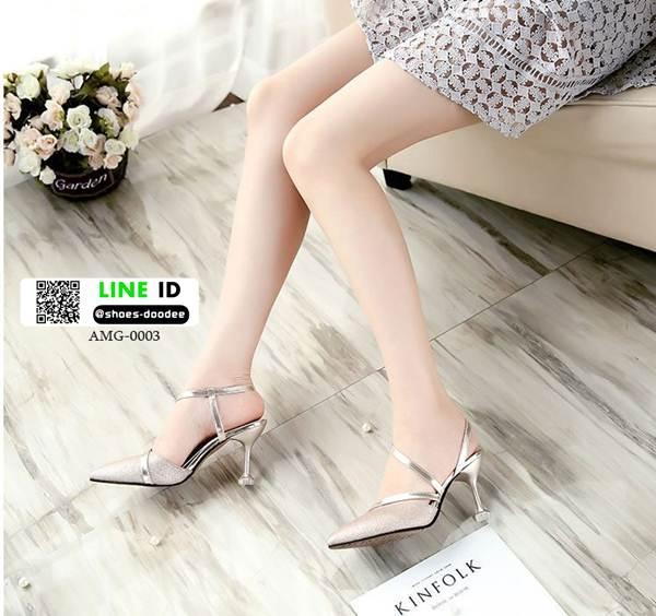 รองเท้าส้นสูงกากเพชรนำเข้า AMG-0003-GLD [สีทอง]