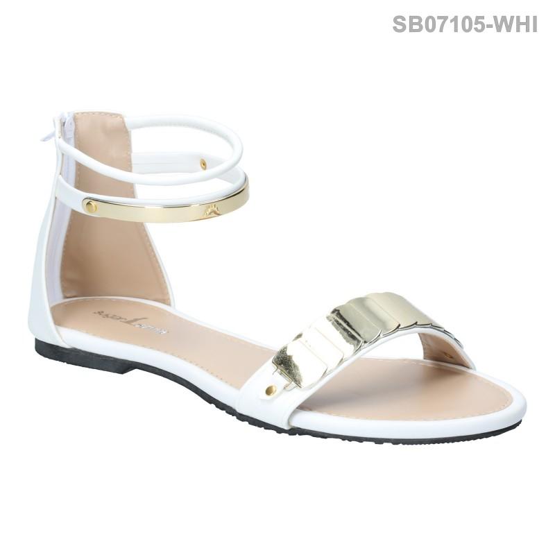 ลดล้างสต๊อก รองเท้าส้นแบน SB07105-WHI [สีขาว]
