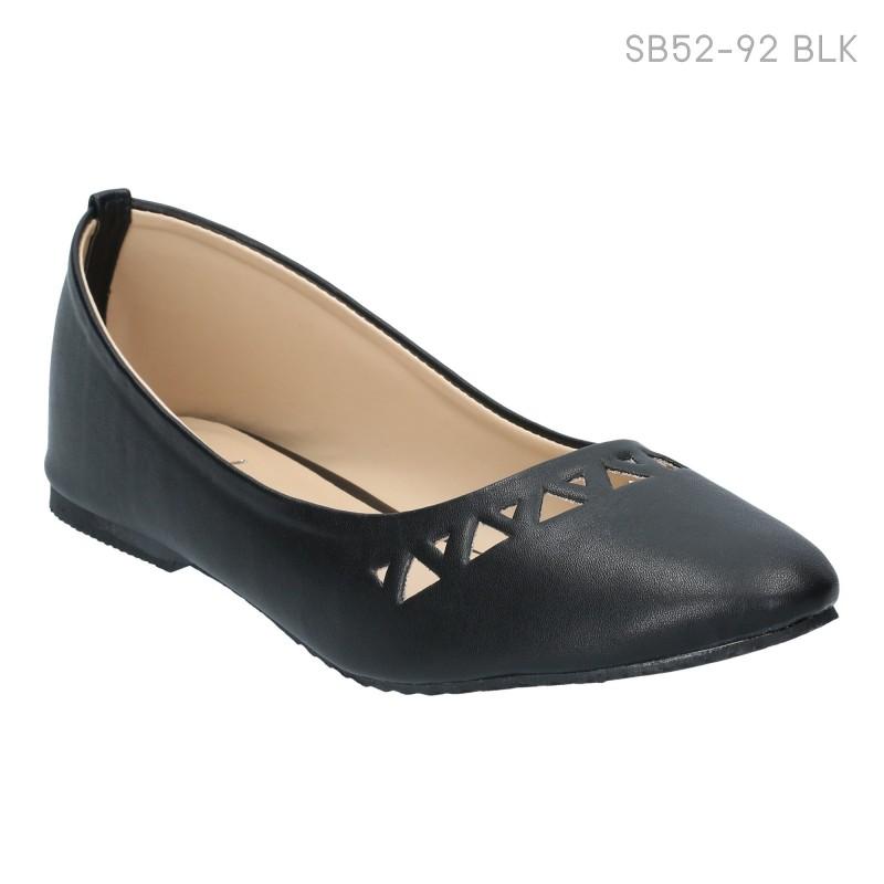 ลดล้างสต๊อก รองเท้าส้นแบน SB07-231-BLK [สีดำ]
