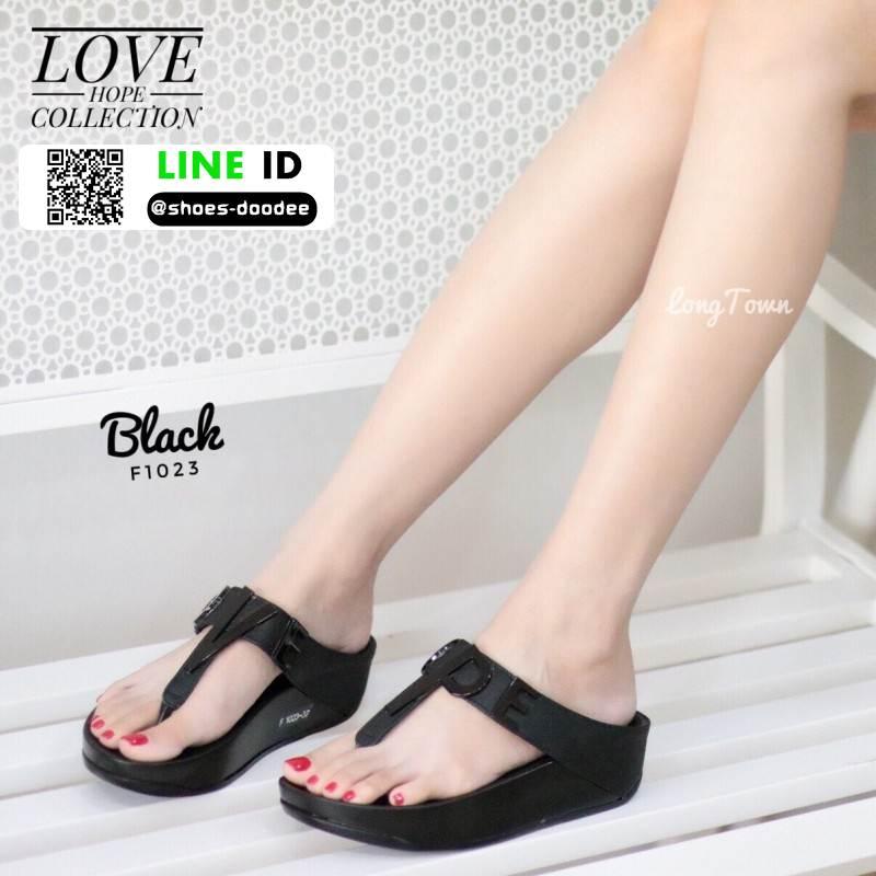รองเท้าสุขภาพ ฟิทฟลอปหนีบ F1023-BLK [สีดำ]