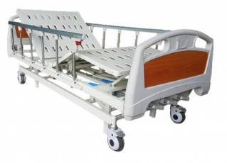 เตียงผู้ป่วย 3 ไกร์ มือหมุน แบบ ABS ราวปีกนก รหัส MEA06