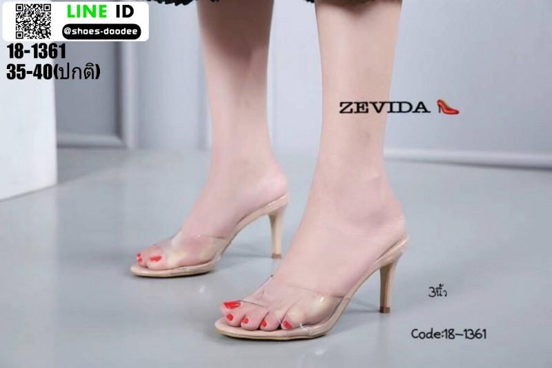 รองเท้าส้นสูงแบบสวม 18-1361-PNK [สีชมพู]