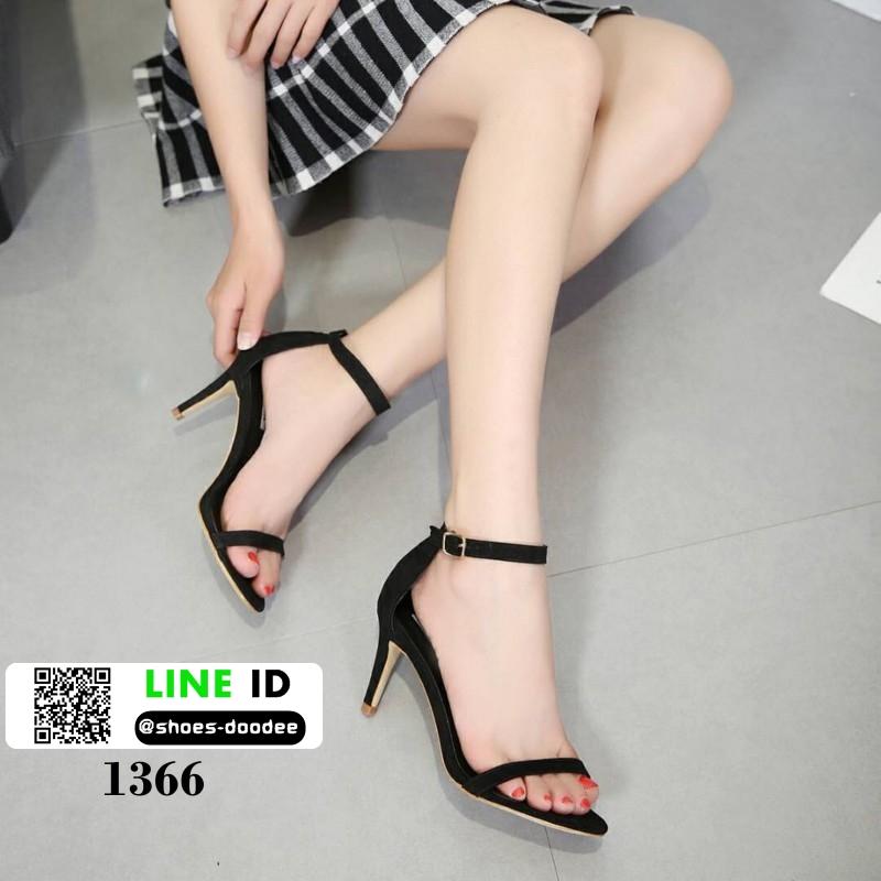 รองเท้าส้นสูง สไตล์เกาหลี ทรงเกร๋ 18-1366-BLACK [สีดำ]