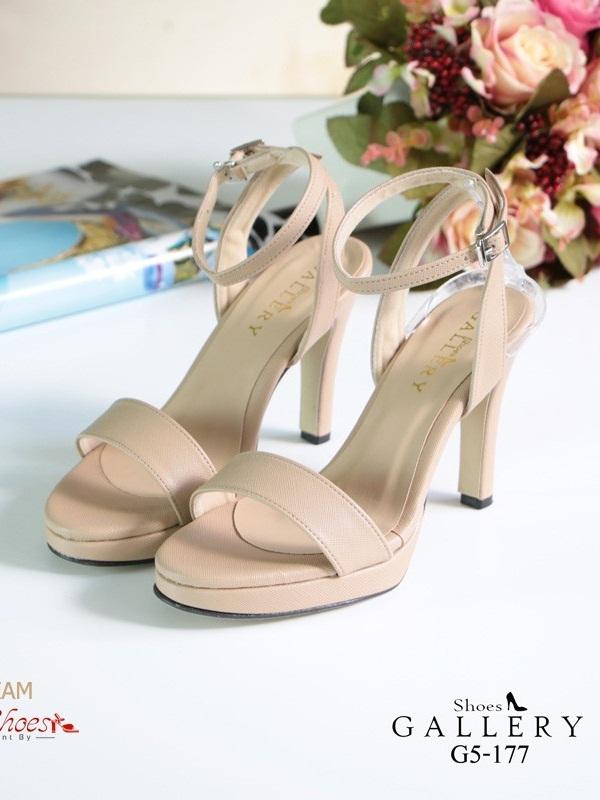 รองเท้าส้นสูงรัดส้นสีครีม เปิดหน้าเท้า แฟชั่นเกาหลี (สีครีม )