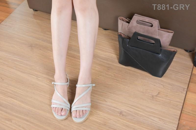 ลดล้างสต๊อก รองเท้าส้นแบน T881-GRY [สีเทา]