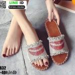 รองเท้าแตะสุขภาพหน้าเพชร ST832-CRM [สีครีม]