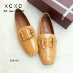 รองเท้าคัทชูส้นแบนสีเหลือง หัวตัด หนังแก้ว (สีเหลือง )
