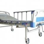 เตียงผู้ป่วย 2 ไกร์ มือหมุน แบบ ABS รหัส MEA02