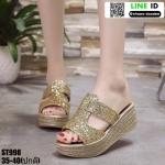 รองเท้าสวมส้นเตารีด ST998-GLD [สีทอง]
