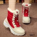 รองเท้าบูท ลุยหิมะ ใส่เที่ยวหน้าหนาว (สีแดง )