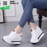 รองเท้าผ้าใบเสริมส้น ST526-WHI [สีขาว]