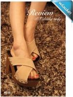 รองเท้าส้นตึกผู้หญิงสีครีม สายไขว้ โชวน์นิ้วเท้า ใช้หมุดยึดเพิ่มความทนทาน เก๋ไก๋ แฟชั่นเกาหลี แฟชั่นพร้อมส่ง