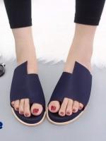 รองเท้าแตะเพื่อสุขภาพสีน้ำเงิน หนังนิ่ม งานสวยดีไซน์เก๋ (สีน้ำเงิน )