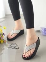 รองเท้าแตะเพื่อสุขภาพสีเงิน แบบคีบ ดีเทลสายติดคริสตรัล (สีเงิน )