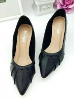 รองเท้าคัทชูส้นสูง 2นิ้ว (สีดำ)