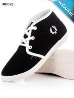 รองเท้าผ้าใบผู้หญิงสีดำ แถบขาว พื้นสีขาว ทูโทน หุ้มข้อ น่ารัก แฟชั่นเกาหลี แฟชั่นพร้อมส่ง