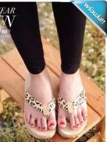 รองเท้าแตะเพื่อสุขภาพผู้หญิง (ลายเสือดาว)