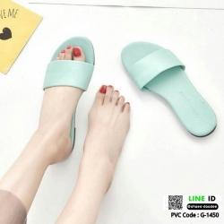 รองเท้าแตะแฟชั่นแบบคาด สวม สีพาสเทล G-1450-LBLU [สีฟ้า]