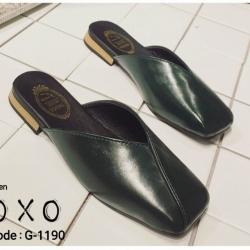 รองเท้าแตะแบบสวม หน้าตัด G-1190-GRN [สีเขียว]