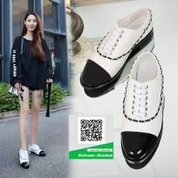 รองเท้าคัทชูส้นสูงสีขาว สวยเก๋หวานๆ (สีขาว )