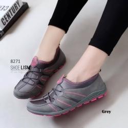 รองเท้าผ้าใบแฟชั่นสีเทา ทรงSport (สีเทา )