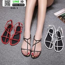 รองเท้าแตะผู้หญิงรัดส้น Celine sandals C55-1-BLK [สีดำ]