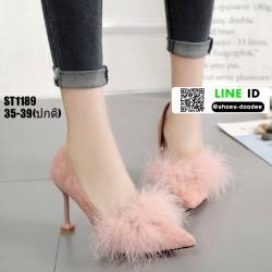 รองเท้าคัชชูส้นแจกัน ST1189-PNK [สีชมพู]