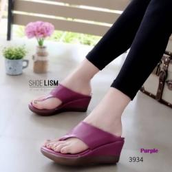 รองเท้าแตะเพื่อสุขภาพสีม่วง เปิดส้น ทรงคีบ (สีม่วง )
