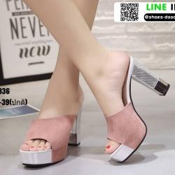 รองเท้าส้นสูงแบบสวม ST336-PNK [สีชมพู]
