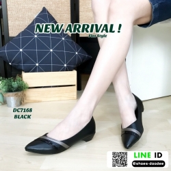 รองเท้าคัชชูงานหนังพียู DC7186-BLK [สีดำ]