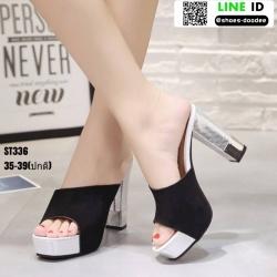 รองเท้าส้นสูงแบบสวม ST336-BLK [สีดำ]