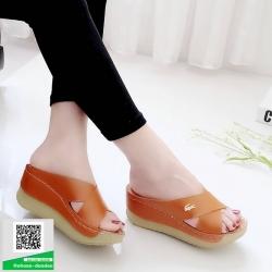 งานสวยรองเท้าเตารีดที่นิ่มสุดใน 3 โลก 5214-แทน [สีแทน]