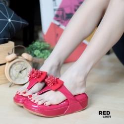 รองเท้าแตะฟิทฟลอปหนีบ พื้นนูน L2679-RED [สีแดง]