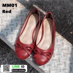 รองเท้าคัชชูส้นเตี้ย MM01-RED [สีแดง]