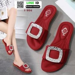 รองเท้าแตะสุขภาพ สไตล์ Roger Vivier Sandals 1-906-RED [สีแดง]