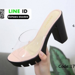 รองเท้าสไตล์สวมงานเกาหลีนำเข้า 17-2295-PNK [สีชมพู]
