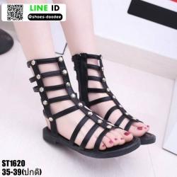 รองเท้าสไตล์แกดิเอเตอร์ ST1620-BLK [สีดำ]