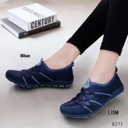 รองเท้าผ้าใบแฟชั่นสีน้ำเงิน ทรงSport (น้ำเงิน )
