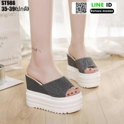 รองเท้าแบบสวมทรงเตารีด ST986-BLK [สีดำ]