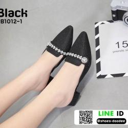 รองเท้าเปิดส้น miu miu B1012-1-BLK [สีดำ]