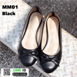 รองเท้าคัชชูส้นเตี้ย MM01-BLK [สีดำ]