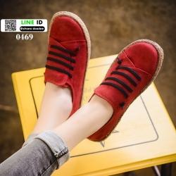 รองเท้าลำลองสไตล์ vintage 0469-P-RED [สีแดง]