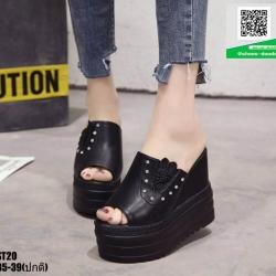 รองเท้าแบบสวมส้นเตารีด ST20-BLK [สีดำ]