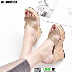 รองเท้าสวมส้นเตารีด ST8008-GLD [สีทอง]