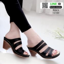 รองเท้าสุขภาพ พื้นนุ่ม 10183-ดำ [สีดำ]