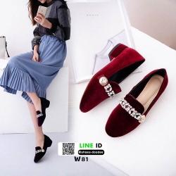 รองเท้าคัทชูผู้หญิง Miu miu W81-RED [สีแดง]