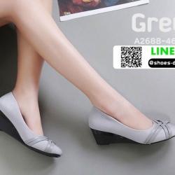 รองเท้าคัชชูส้นเตารีด A2688-46-GRY [สีเทา]